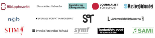 Logotyper Copyswedes medlemmar